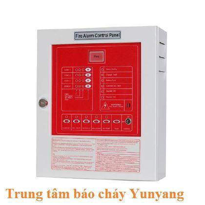 Tủ trung tâm báo cháy 2 kênh YUNYANG YF3-0002L bao gồm Acquy0