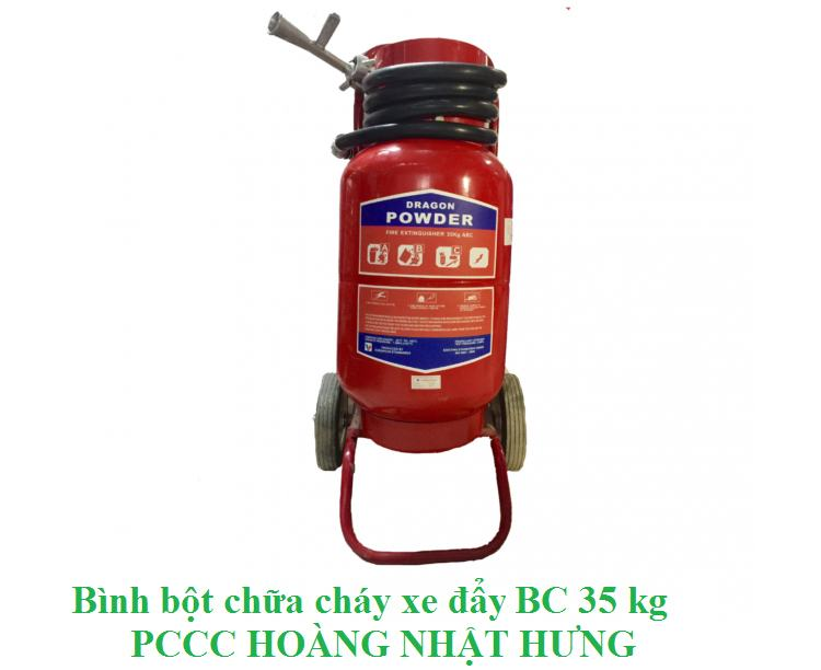 Bình chữa cháy bột xe đẩy Dragon Powder BC 35kg