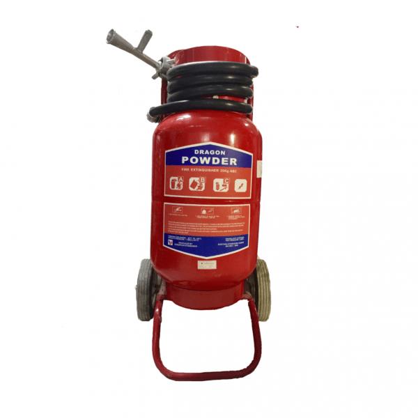 Bình chữa cháy bột xe đẩy Dragon Powder BC 35kg0