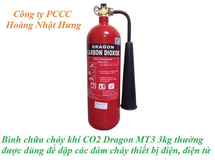 Bình chữa cháy khí CO2 Dragon MT3 3kg