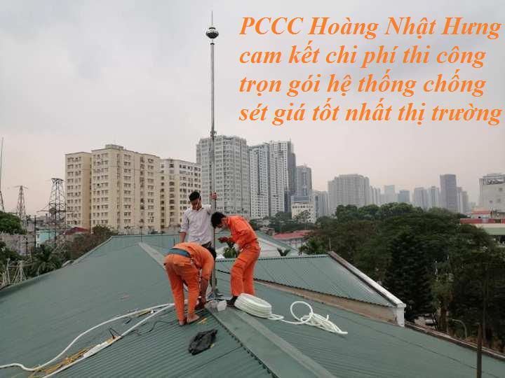 PCCC Hoàng Nhật Hưng thi công chống sét